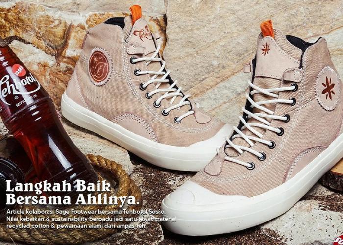 Kolaborasi Sepatu Merek Lokal dengan Pewarna Alami dari Daun Teh