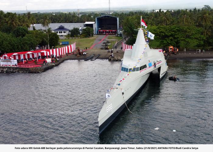 KRI Golok-688, Kapal Cepat Rudal Siluman Terbaru TNI AL Buatan Anak Bangsa