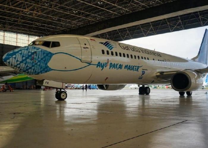 Batik Parang Jadi Masker Pesawat Garuda Indonesia