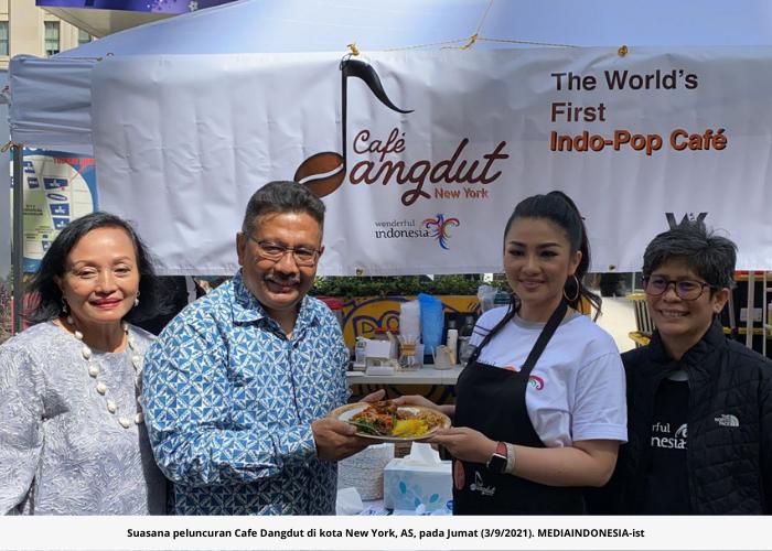 Diaspora Indonesia Luncurkan Cafe Dangdut di New York