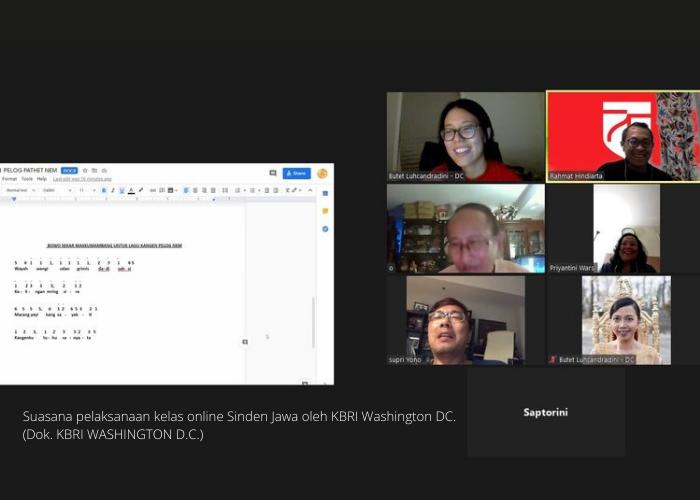Kelas Online Sinden Jawa di Washington, D.C.