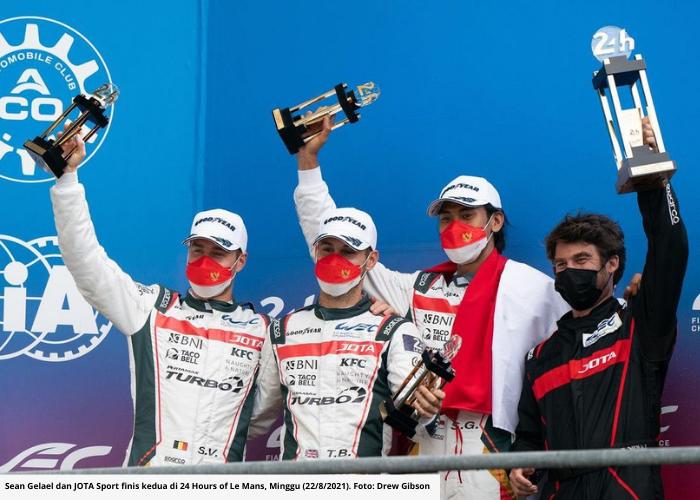 Sean Gelael Cetak Sejarah, Naik Podium di Balapan Ketahanan Le Mans 24 Hours