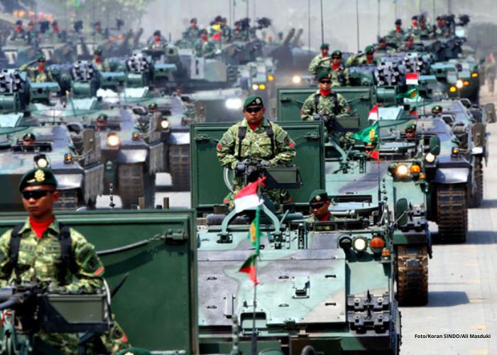 Indonesia Urutan ke-16  Negara dengan Kekuatan Militer Terkuat di Dunia