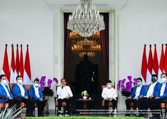 Presiden Jokowi Perkenalkan Enam Figur Baru di Kabinet Indonesia Maju