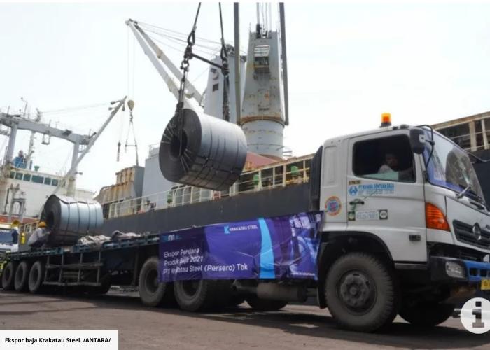 Krakatau Steel Ekspor 20 Ribu Ton Baja Ke Eropa