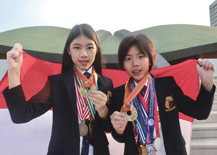 Mischka dan Devon Raih 33 Medali Olimpiade Matematika di Masa Pandemi