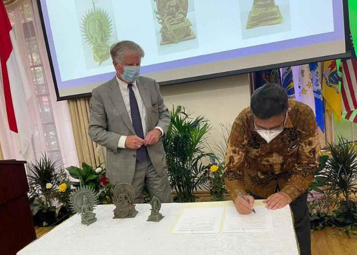 3 Artefak Kuno Dikembalikan Dari Amerika ke Indonesia