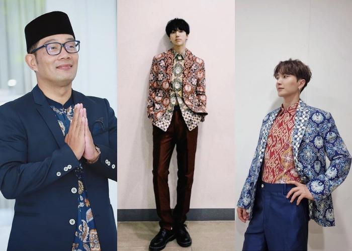 Gubernur Ridwan Kamil Memperkenalkan Batik ke Dunia Lewat Super Junior
