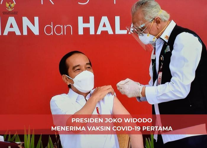 Presiden Jokowi Resmi Divaksin Covid-19