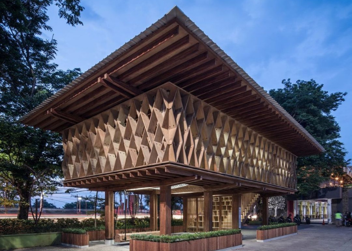 Perpustakaan Warak Kayu Raih Penghargaan Building of The Year 2021