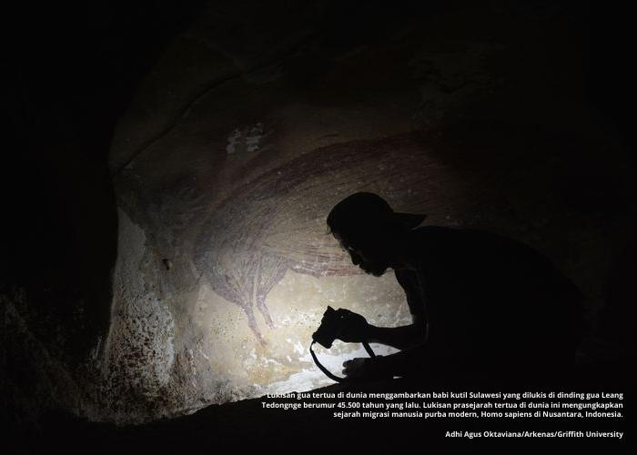 Lukisan Gua Tertua di Dunia Ada di Indonesia