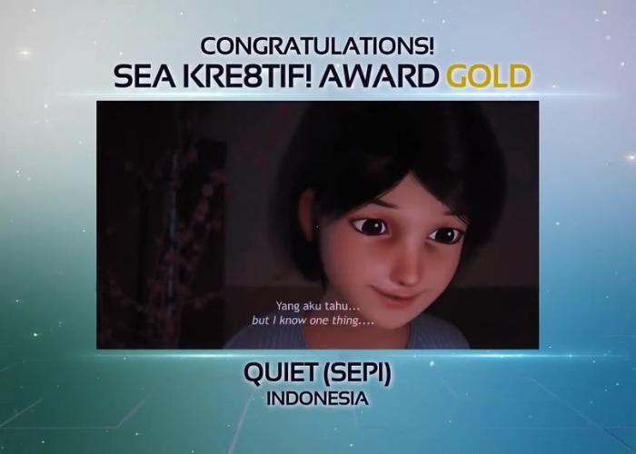 """Film Animasi """"Sepi"""" Raih Penghargaan Gold di Ajang South East Asia Kre8tif!"""