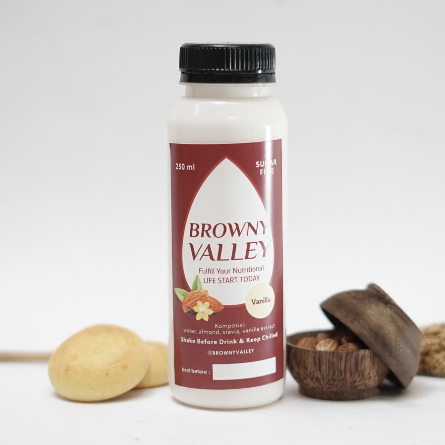 Susu almond rasa vanilla