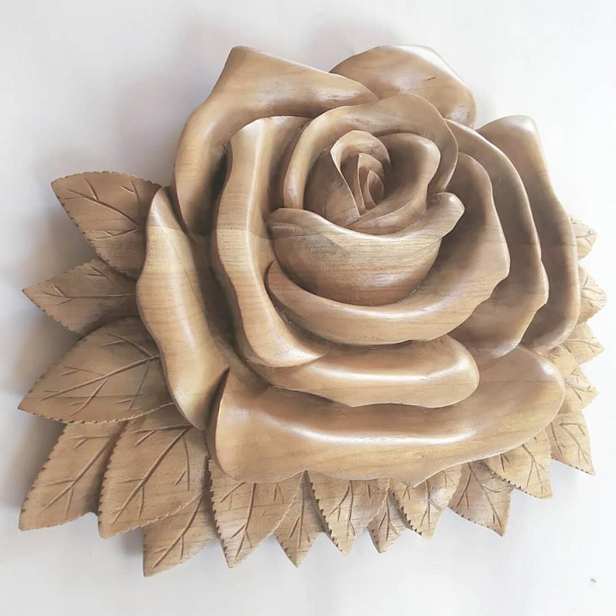 Hiasan dinding cantik motif bunga mawar