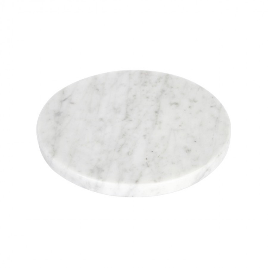 Round White Moonstone Marble D20
