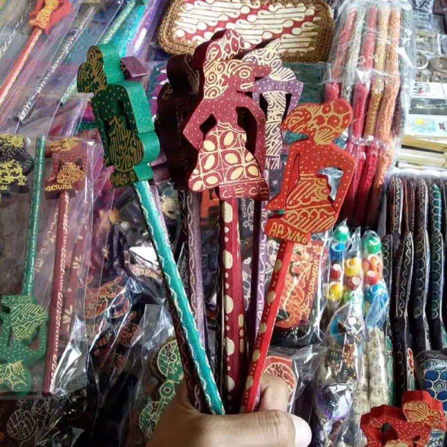 Pensil Karakter Wayang Souvenir Indonesia Jogja