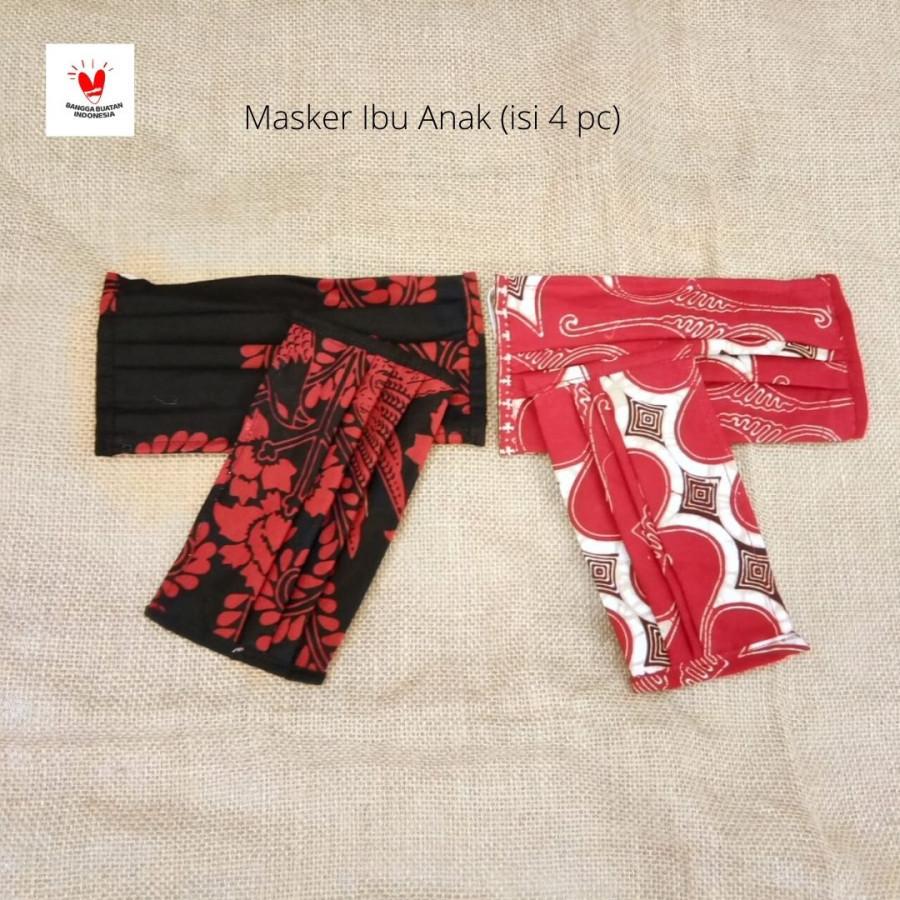 GESYAL Masker Batik Ibu Anak Set isi 4. Pola nyaman bikin betah
