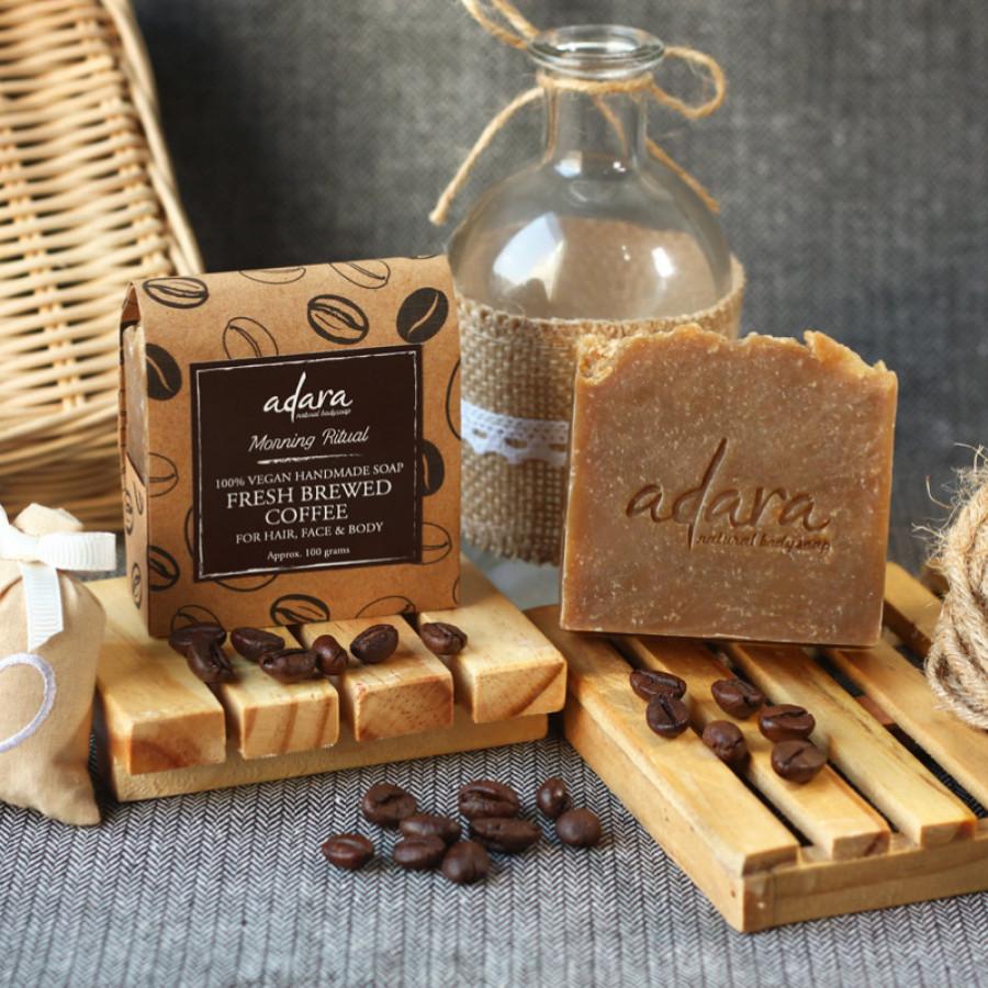 Adara Organic Handmade Fresh Brewed Coffee Soap - Morning Ritual