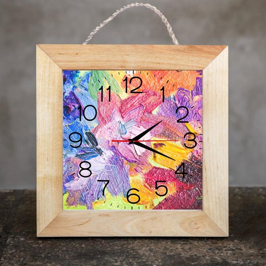 Jam Dinding Dekorasi Rumah/Kamar 25x25 cm Color 01