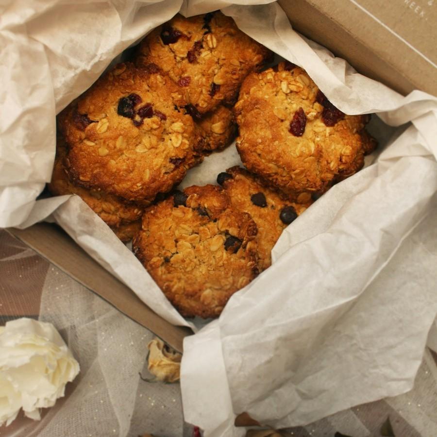 Vegan Cranberry Tahini Cookies
