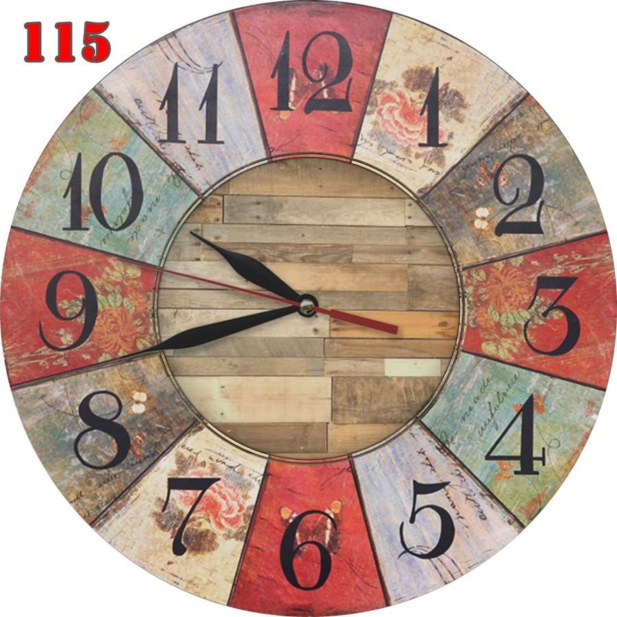 115 Jam Dinding Retro Nuansa Klasik Interior Rumah Shabby Chic Motif Plate 05a679057a