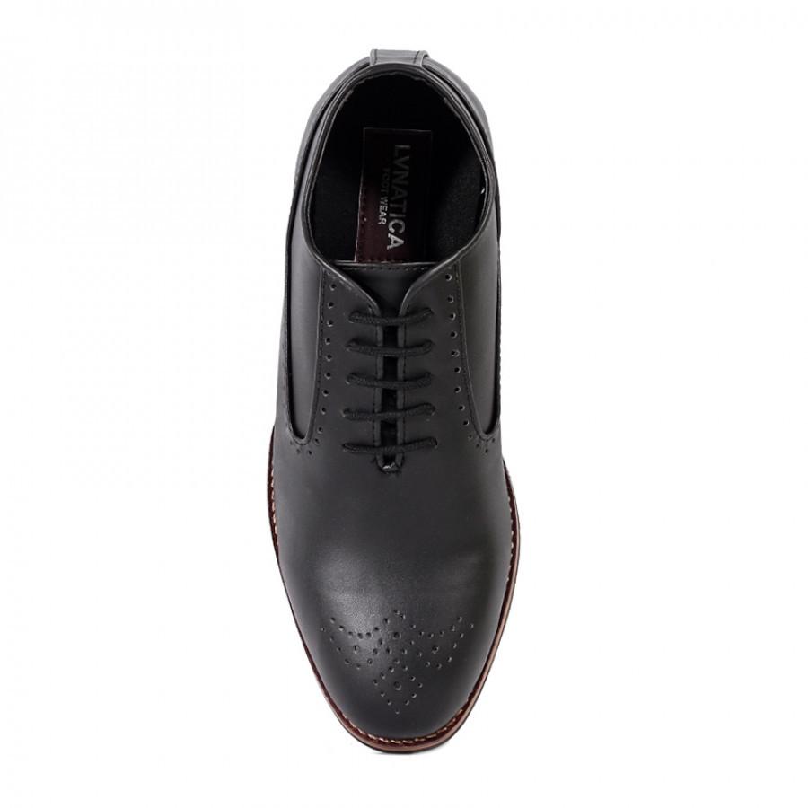 Lunatica Footwear Cerberus Black   Sepatu Formal Pria Pantofel