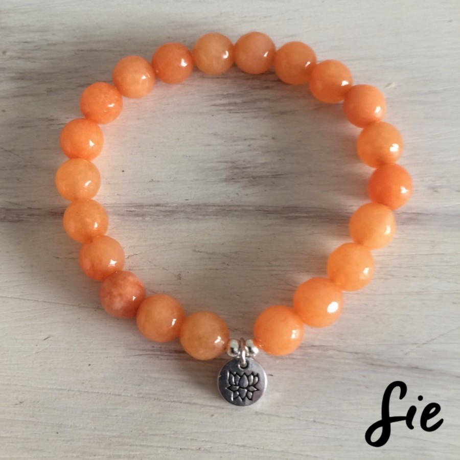 Gelang Peach Lotus