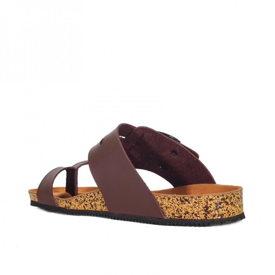 Alfaro Brown   Zensa Footwear Sandal Jepit Pria Casual