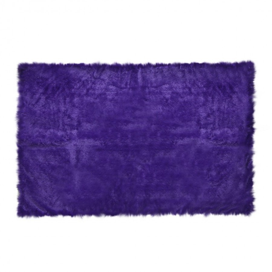 Square Purple Fur Rug 200 x 150