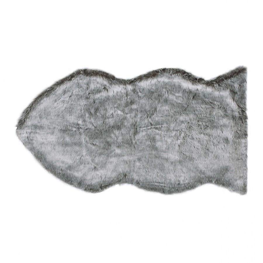 Fish Silverchrome Fur Rug 90 x 60