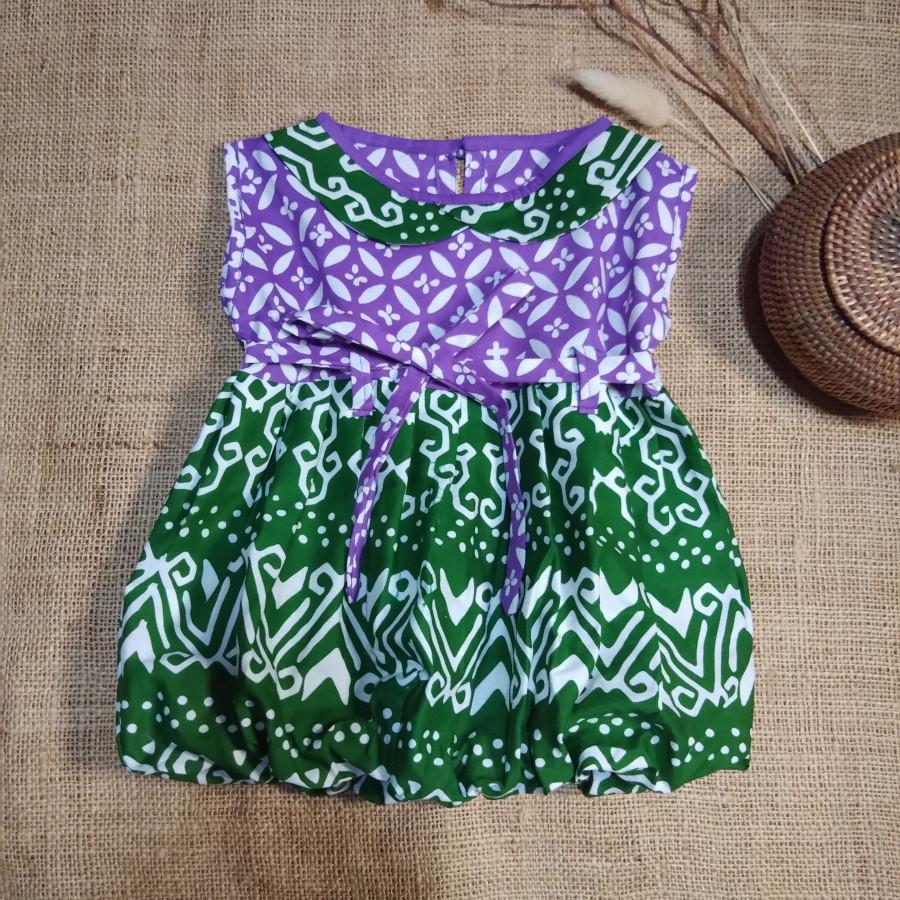 Dress Anak Batik Cap BL 01