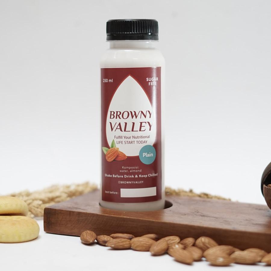 Susu almond rasa plain