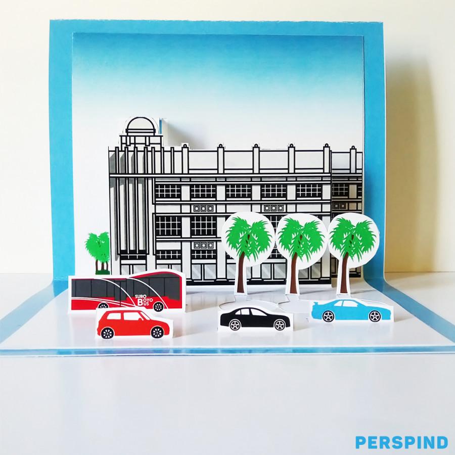 Pop Up 3D Postcard Gedung Siola