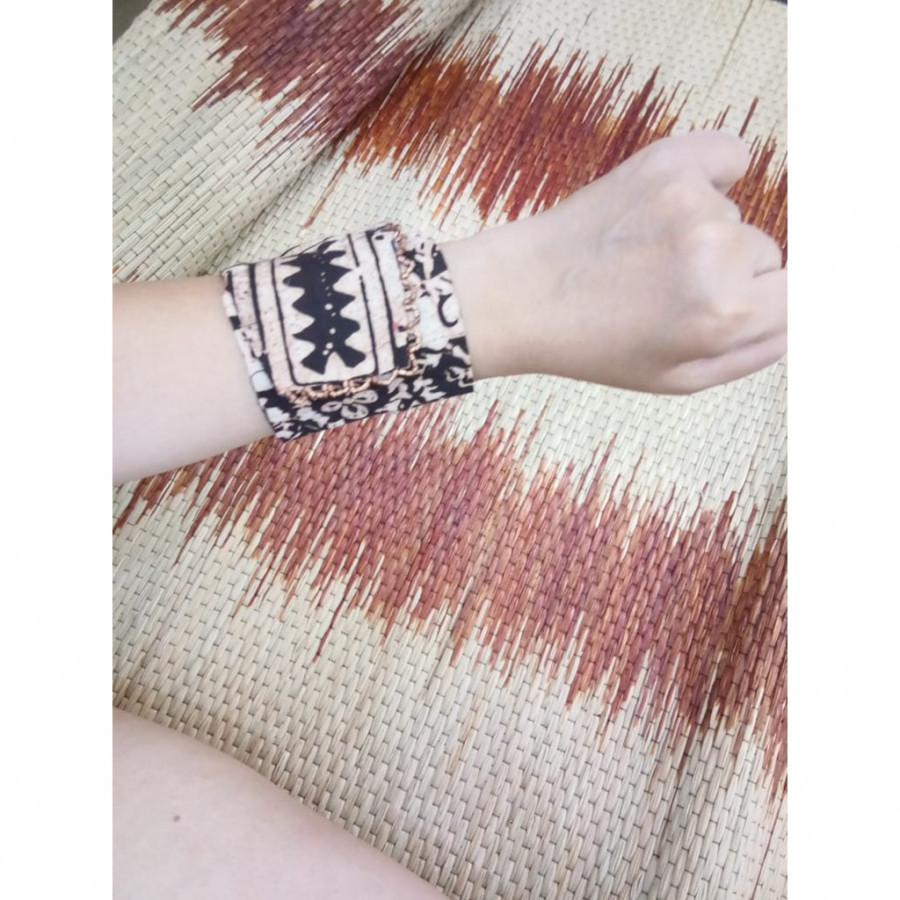 Gelang Batik Gelang Handmade Gelang Unik Batik Gelang  Gesyal Coklat