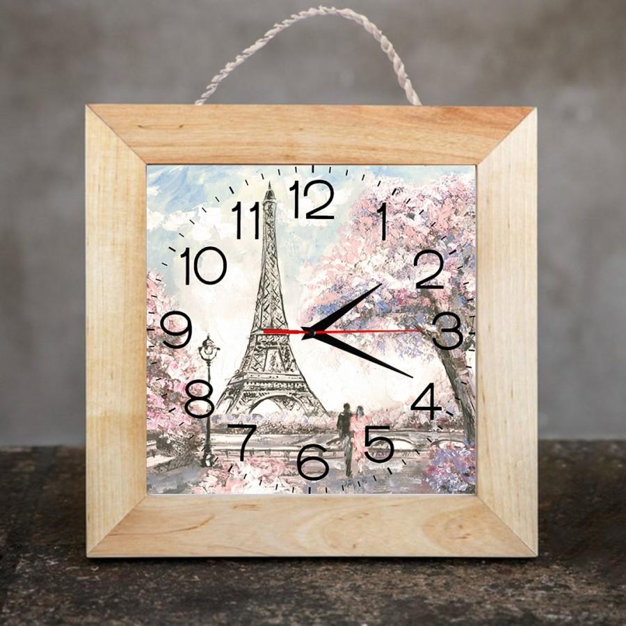 Jam Dinding Dekorasi Rumah/Kamar 25x25 cm Paris 01
