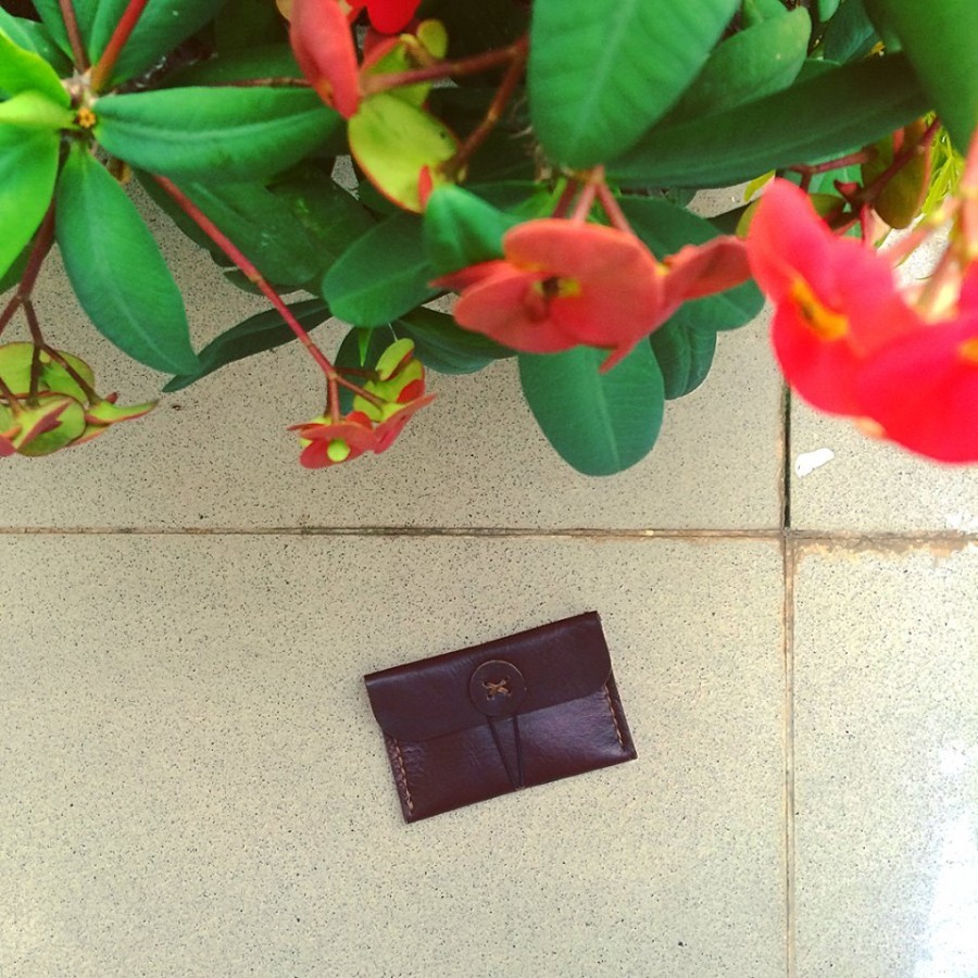Coin/Card Purse (color dark brown) dompet kartu atau koin