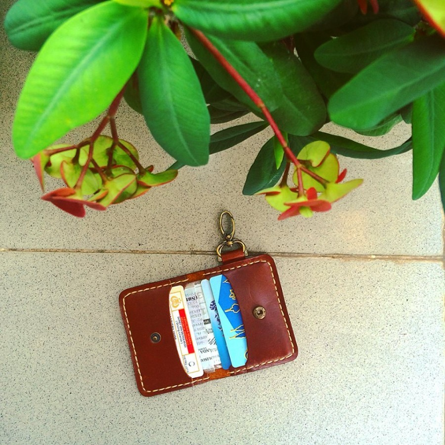 Wallet keychain 2nd edition (color classic brown) dompet gantungan kunci mobil motor STNK SIM