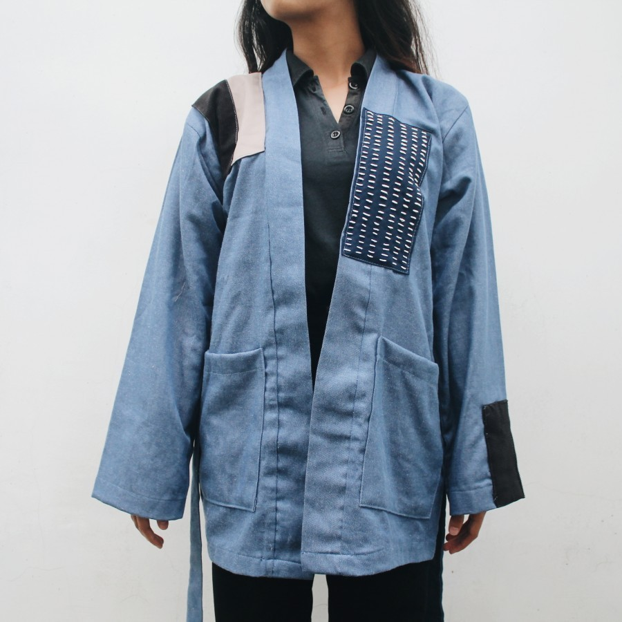 Outer denim sashiko BLUE TANA