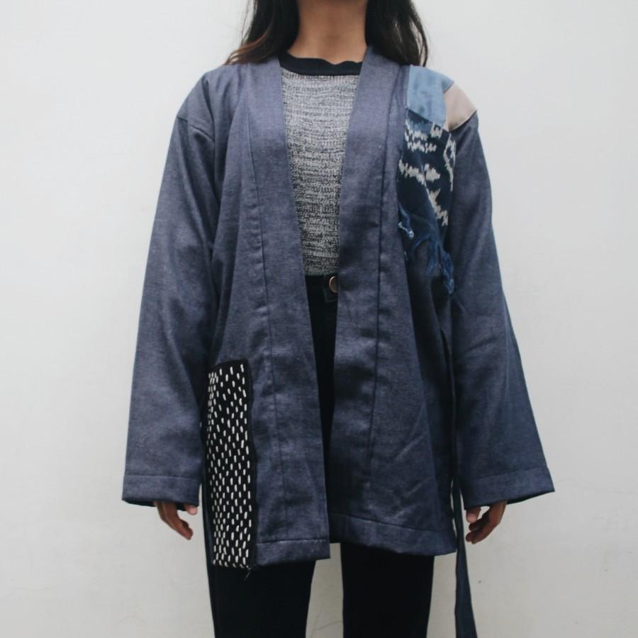 Outer denim BLUE SASHIKO