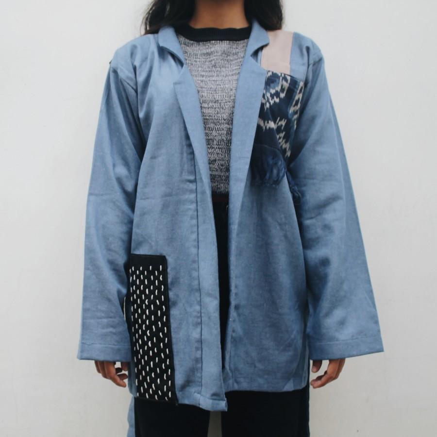 Outer denim sashiko BLUE LAGUNA