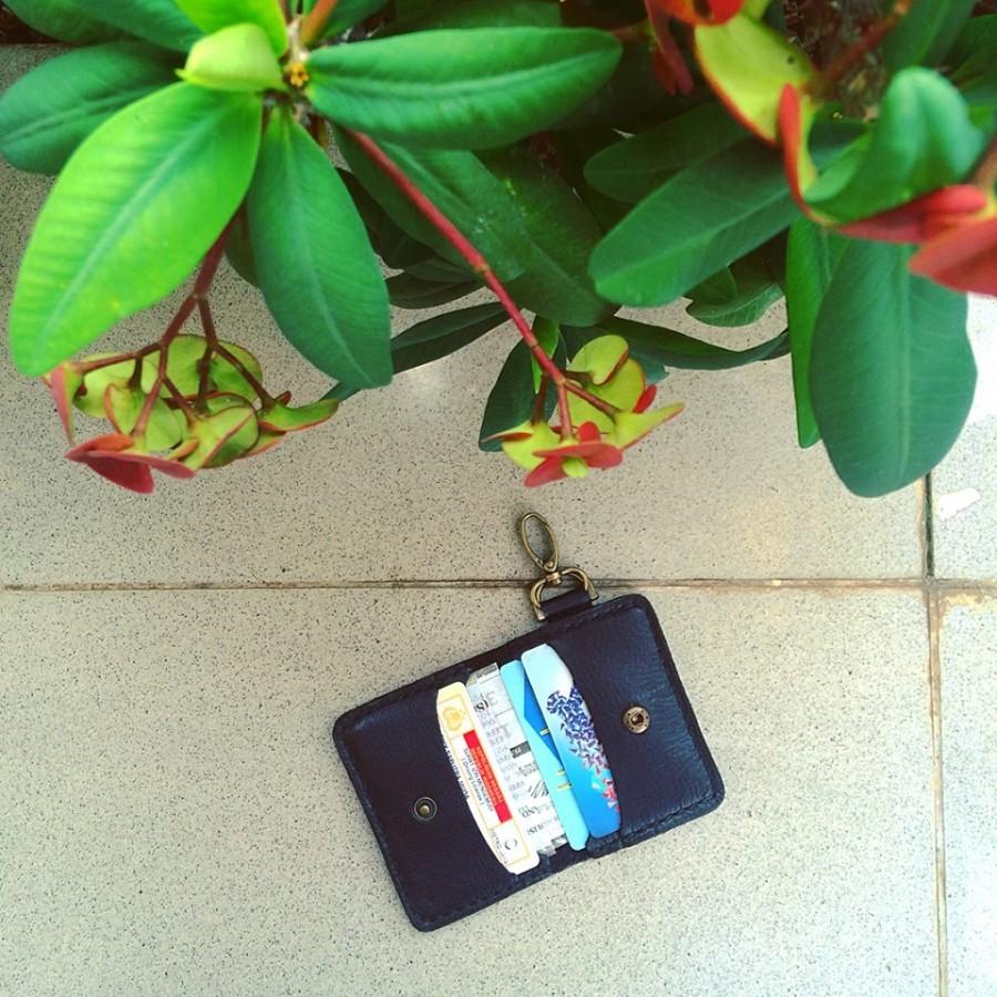 Wallet keychain 2nd edition (color dark black) dompet gantungan kunci mobil motor STNK SIM