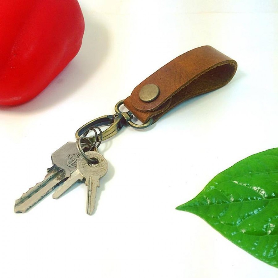 Lanyard keychain color classic brown