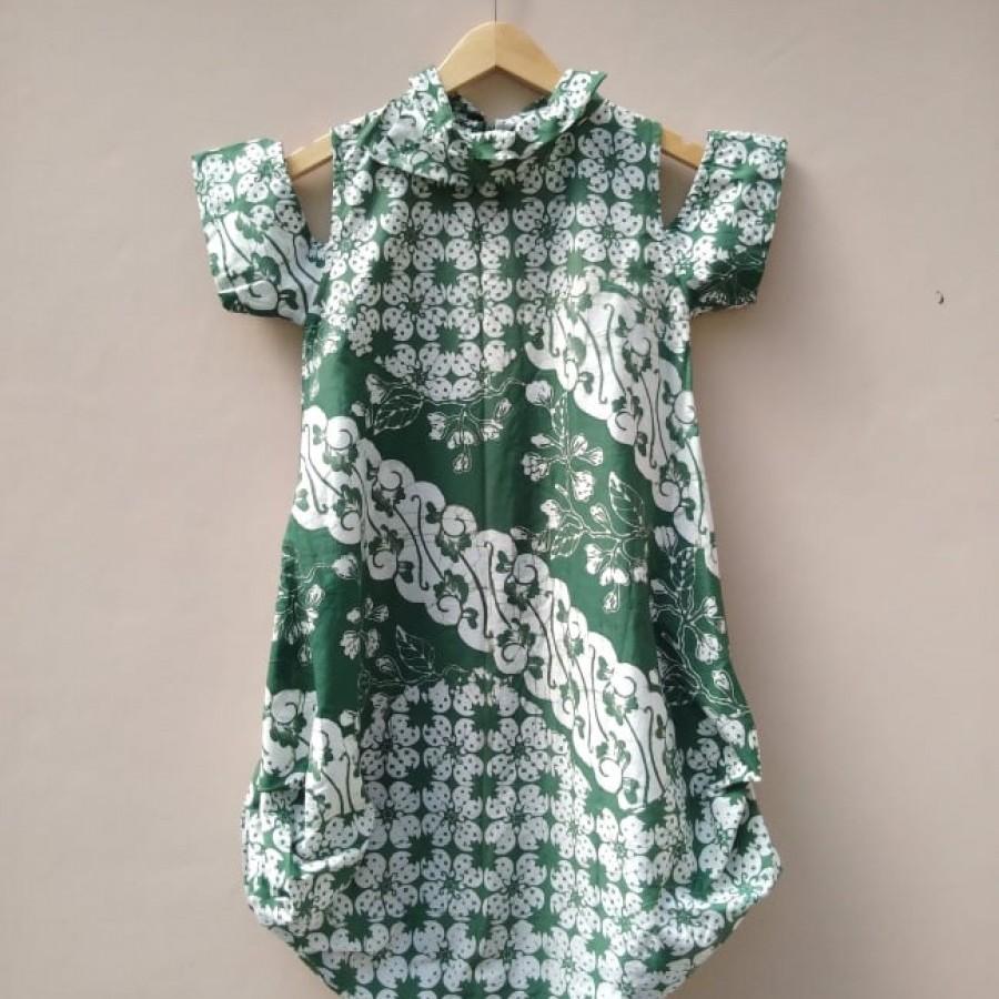 Dress Batik Bunga Bakung RR-1