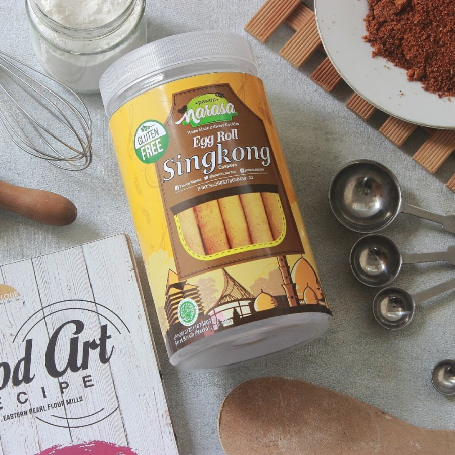 Snack Gluten Free Egg Roll SINGKONG - Toples - Pawon Narasa