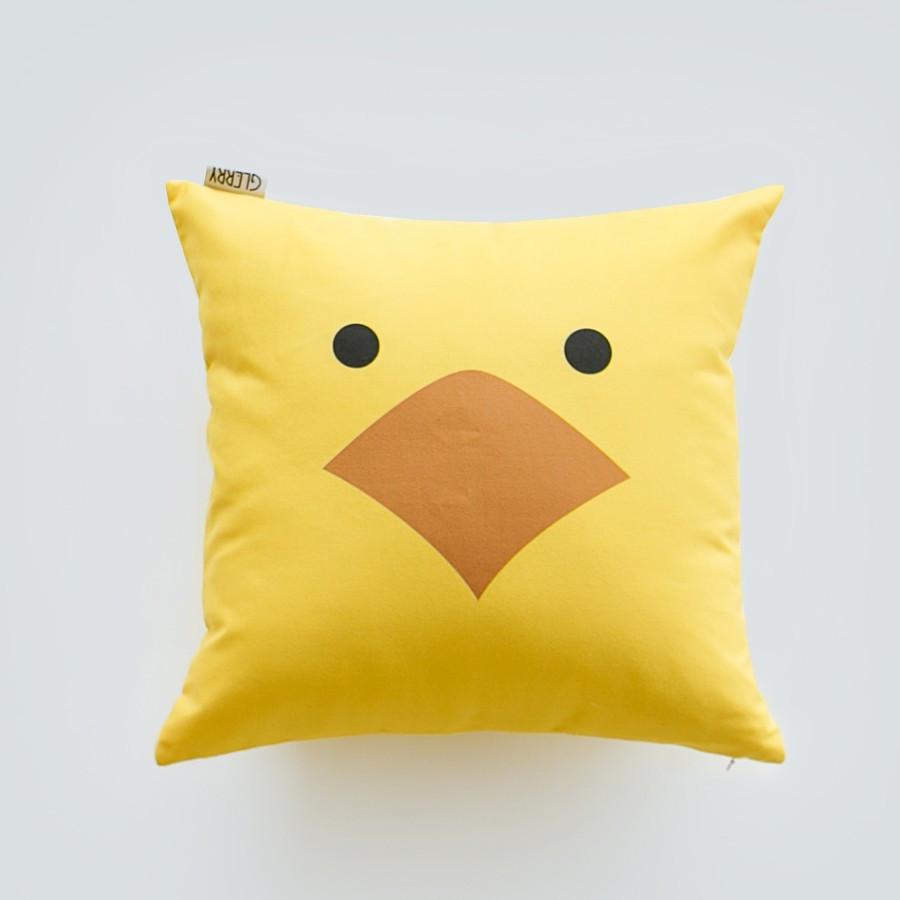 Yellow Bird Cushion 40 x 40