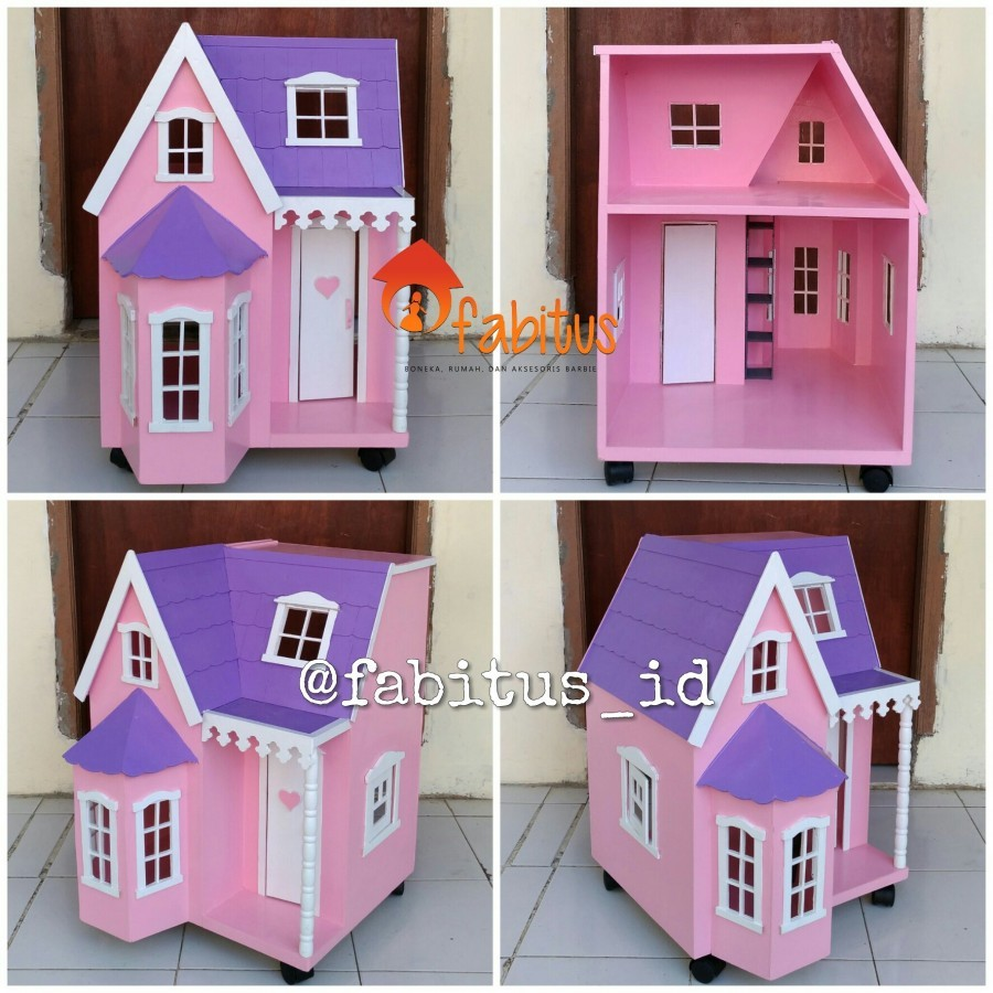 Mainan Anak Rumah Boneka Barbie Villa Kecil Dollhouse - Ku Ka 4f17f51400