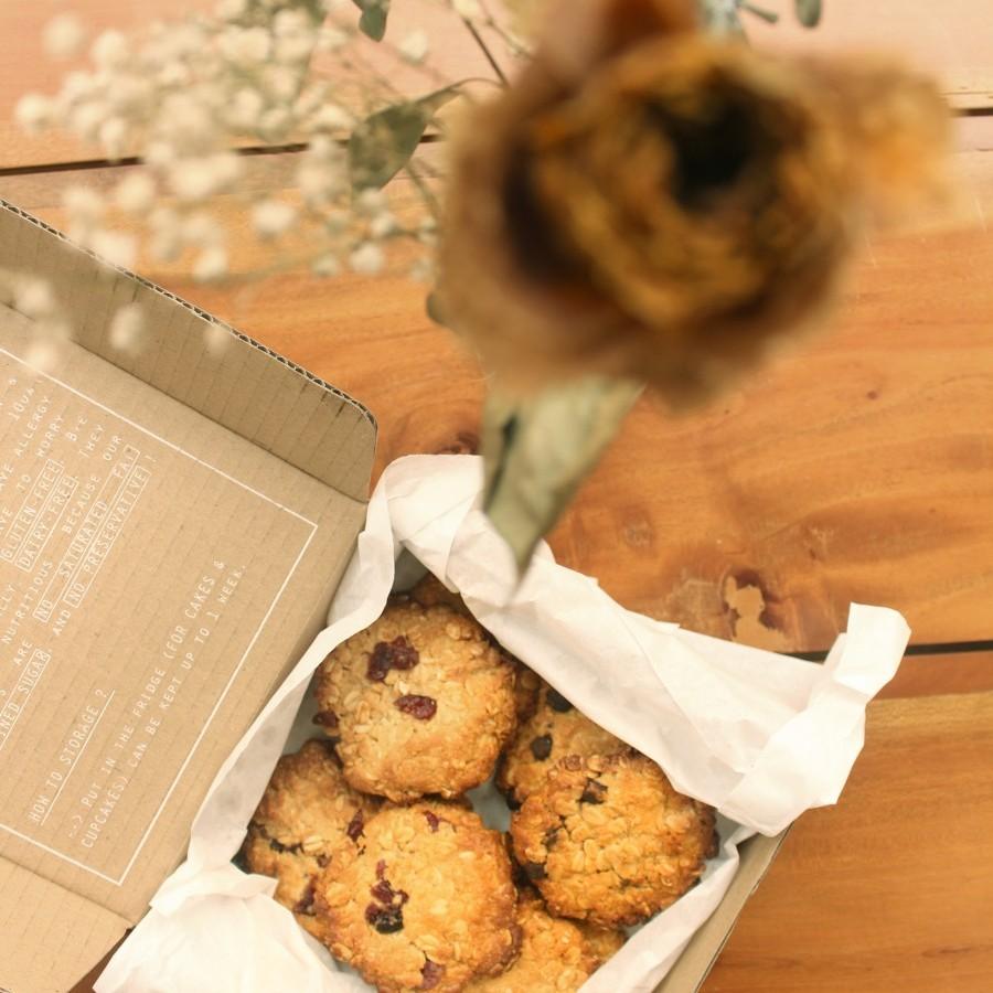 Vegan Choco-Cran Tahini Cookies