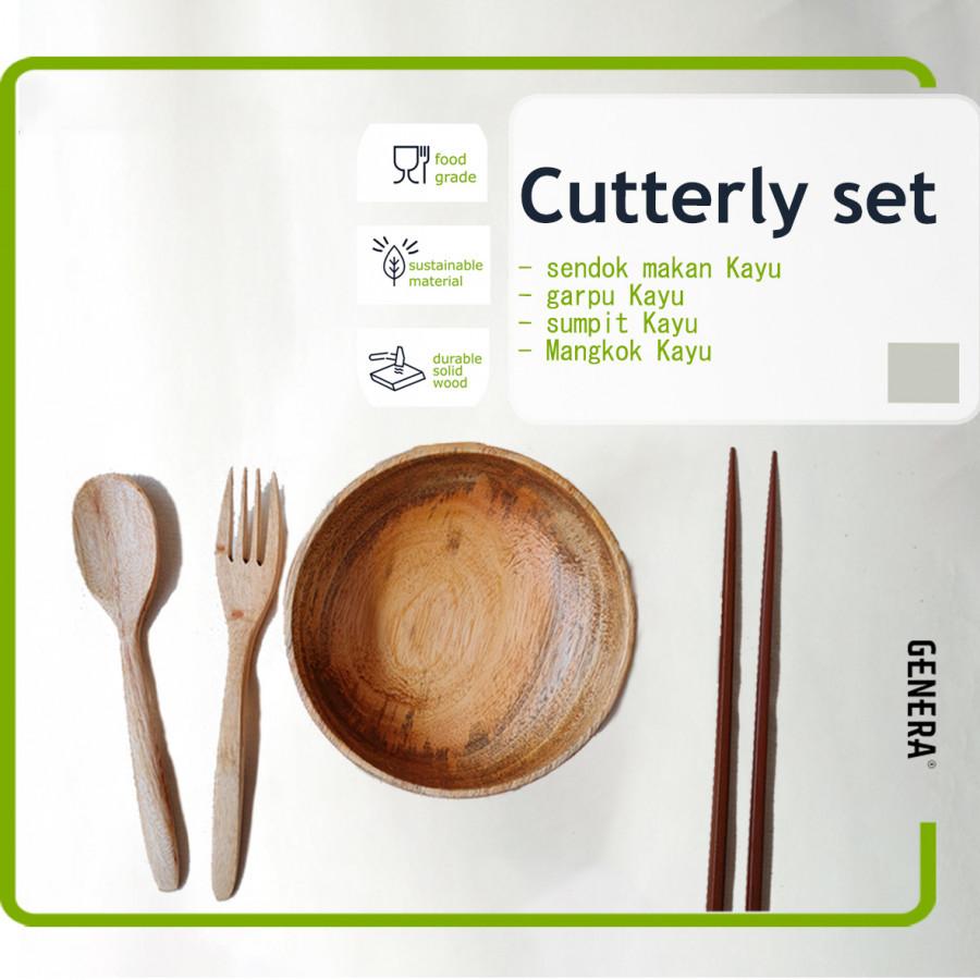 GENERA Wood Cutlery SET