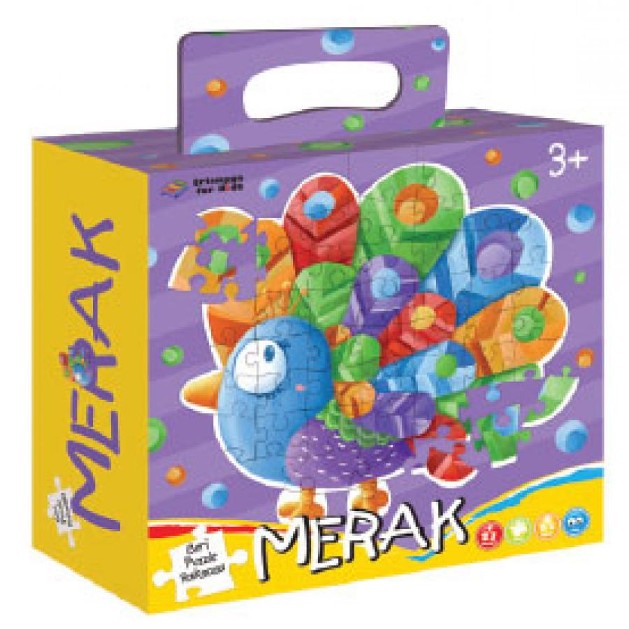 Erlangga For Kids - Puzzle Raksasa: Merak #