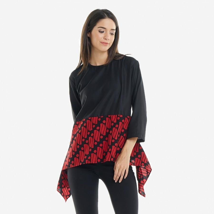 Batik Dirga Amunet Atsan Wanita / Blouse Batik - Red